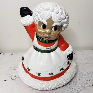 Porcelain African American Mrs. Clause